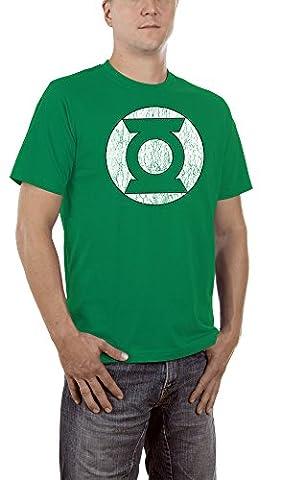 Touchlines Green Lantern Logo Homme T-Shirt Kelly Green, L