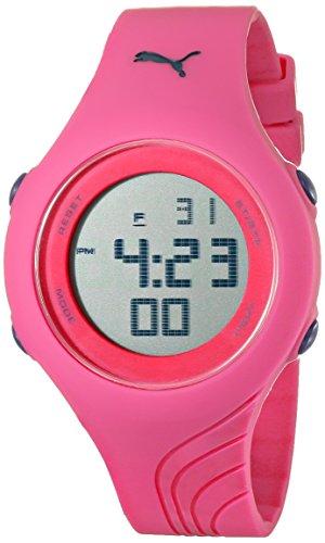PUMA Women's PU911092003 Twist S Pink Digital Display Quartz Pink Watch