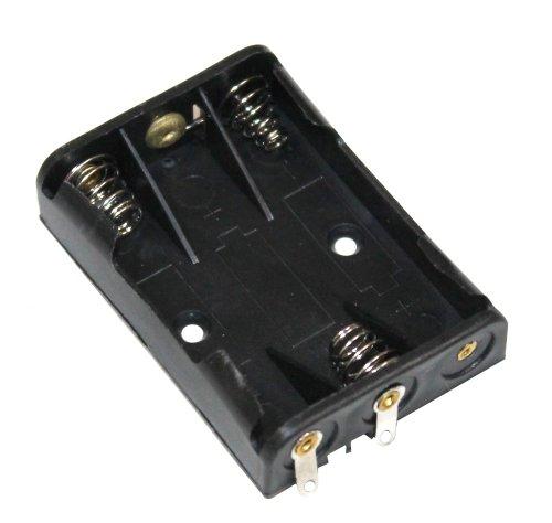 Preisvergleich Produktbild Aerzetix: Batteriehalter 3x AAA LR03 für 3 Batterien oder Akkus Steckdose Rahmen
