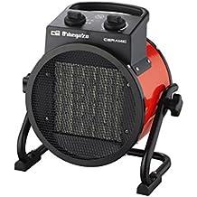 Orbegozo FHR 3050 - Calefactor cerámico profesional, 3000 W, 2 potencias de calor, protección contra sobrecalentamiento, apagado automático
