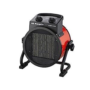 calor: Orbegozo FHR 3050 Calefactor cerámico profesional 3000 W, Negro/Rojo