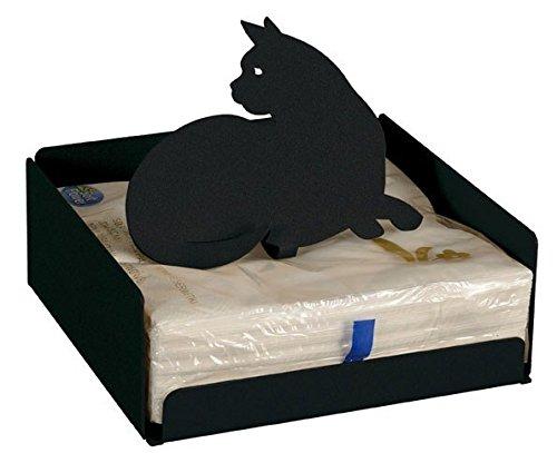 Arti & Mestieri Porta servilletas gato negro Felix