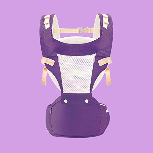 ZHAOJING Baby Hocker Lumbar Hocker Vordere Schulter Atmungsaktive multifunktionale Sommer Universal Baby Strap Kind Sitzende Hocker Gürtel Babytrage ( Farbe : Lila ) (Reibung Schnalle Schulter Riemen)