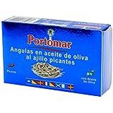 Angulas en aceite de oliva al ajillo picantes-Portomar-1 x 115gr-total= 115gr.