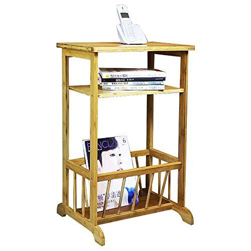 Lagerregal ZHIRONG 2-Ebenen-Sofa-Beistelltisch, Bambus-Telefon/Kaffee/Beistelltisch/Aufbewahrungsgestell 45 x 32 x 79 cm (Telefon-beistelltisch)