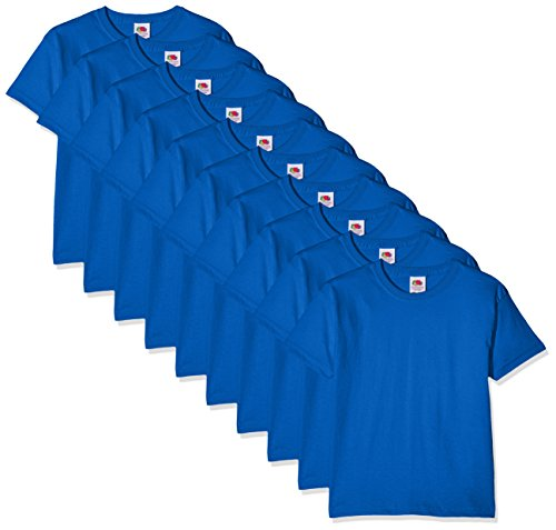 Fruit of the Loom Jungen Kids 10 Pack T-Shirt, Blau (Royal Blue 51), 9-10 Jahre (10erPack) -