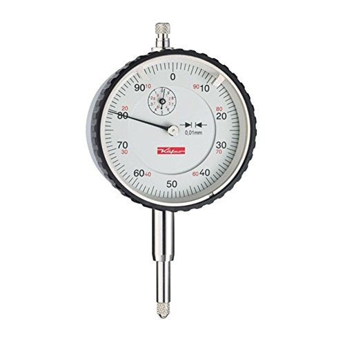 Preisvergleich Produktbild Käfer Messuhr 0 - 10 mm MU 52 T Ablesung: 0,01 mm Zffernblatt: 58 mm Zeigerumdrehung: 1 mm, Gewicht: 0.21