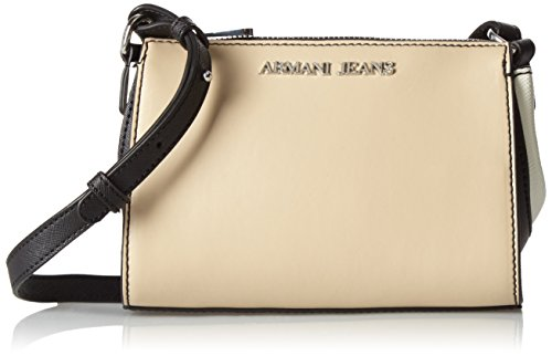 Armani - 9221797P758, Borsa baguette Donna Mehrfarbig (BEIGE/NERO/BIANCO 13155)