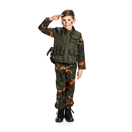 Kostümplanet® Militär Kostüm Kinder Militärkostüm Soldat Kostüm Jungen Soldatenkostüm Größe 164 (Jungen Militär Kostüm)