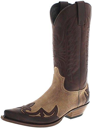 Sendra Boots 13170 Chocolate Firence Westernstiefel für Damen und Herren Braun Cowboystiefel, Groesse:42