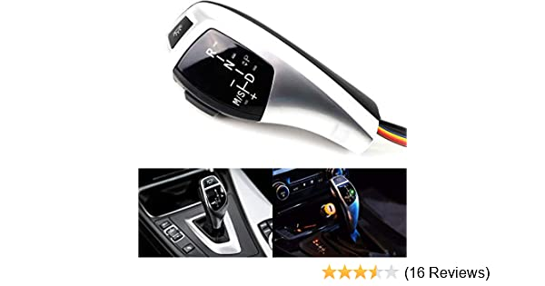 iJDMTOY F30 Style Matte Silver Finish LED Illuminated Shift Knob Gear Selector Upgrade Compatible With BMW 1995-2003 E39 5 Series /& 1999-2006 E53 X5