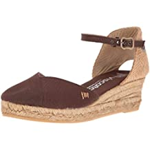 VISCATA Pubol Ankle-Strap, Closed Toe, Classic Espadrilles with 2-inch Heel Made in Spain