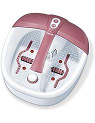 Beurer FB 35 Fußbad mit Vibrations und Sprudelmassage für Ihre Füße, Aroma-Therapie-Anwendung, inkl. Wassertemperierung