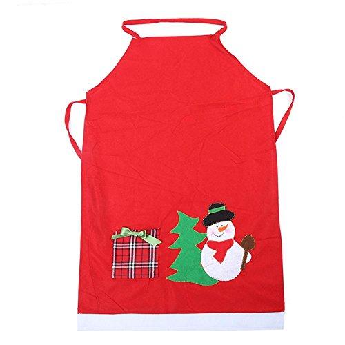 Weihnachtsschürze, Weihnachten, Abendessen, Kochschürze, Küchenschürze, Party, Kostüme, Requisiten, Dekoration Christmas Snowman (Gärtner Kostüm Männer)