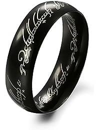 FRX Super Hero Black Metal Alloy Finger Rings For Men