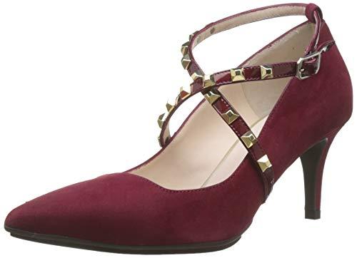 Lodi Eldora-GO, Zapatos con Tira de Tobillo para Mujer, Rojo Ante Bordo Ante Bordo, 39 EU