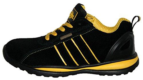 Damen Ottawa Sicherheit Stahlkappe Leichte Schnürschuh Arbeit Schuh Trainer, Gelb - Schwarz / Gelb - Größe: 37 EU