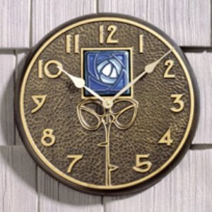 Whitehall Products Blue Dard Hunter Rose Clock, French Bronze by Whitehall -