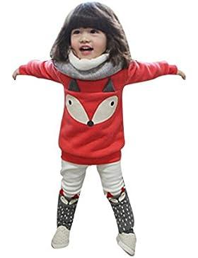 Kleidung Set Kolylong® 1 Set (12 Monate-3 Jahre alt) Baby Mädchen drucken Outfits (Tops + Hosen) Herbst Kleiderset...