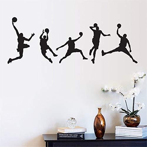 Qsdfcc Basketball Spielen Wandaufkleber Für Klassenzimmer Studenten Raumdekorationen Sport Aufkleber Wandkunst DIY Kinder Aufkleber 44x126 cm
