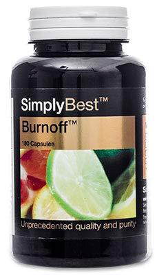 Burnoff - SimplyBest - 180 Kapseln - Versorgung für 3 Monate - Unterstützung für Mann und Frau, die Körperfett reduzieren möchten - SimplySupplements