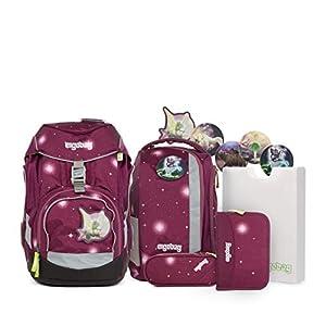 Ergobag Pack FeenzauBär Galaxy, ergonomischer Schulrucksack, Set 6-teilig, 20 Liter, 1.100 g, Lila
