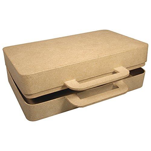 RAYHER 71825000 Pappmaché box Koffer, FSC recycled 100%, 26 x 19 x 7 cm