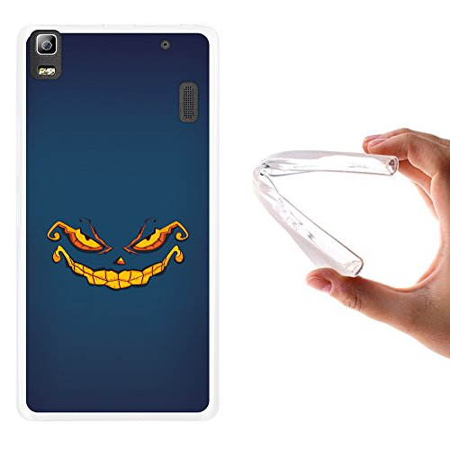 ote Hülle, Handyhülle Silikon für [ Lenovo K3 Note ] Halloween Monster Handytasche Handy Cover Case Schutzhülle Flexible TPU - Transparent ()