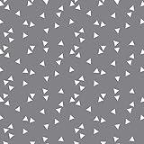 Baumwollstoff Dreiecke Grau Webware Meterware Popeline