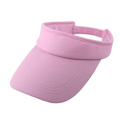 Sungpunet Damen Outdoor Sommer Baumwolle Mischungen Verstellbar Golf Baseball Tennis Sun Visor Cap Pink -