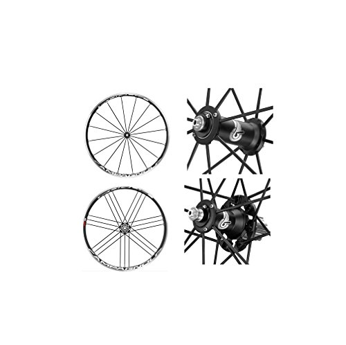 Campagnolo 0136210 - Juego De Ruedas Eurus Negro Cubierta de ciclismo 11V.Shimano