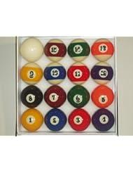 SGL - Bolas de billar (57 mm, tamaño americano)