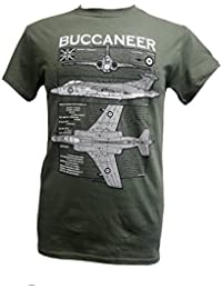 Blackburn Buccaneer - Military T Shirt With Blueprint Design