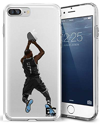 iPhone 6/6S iPhone 7/iPhone 8 Hülle Epic Cases Ultra Slim Crystal Clear Basketball Series Soft Transparent TPU Case Cover Apple (iPhone 6/6s) (iPhone 7) (iPhone 8), iPhone 6/7/8 Plus, KD