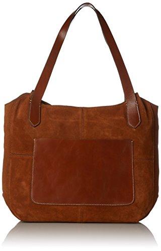 Clarks Damen Tacita Mix Schultertasche, Braun (Tan Combi), 14x33x44 cm - Frauen Clark Taschen Für