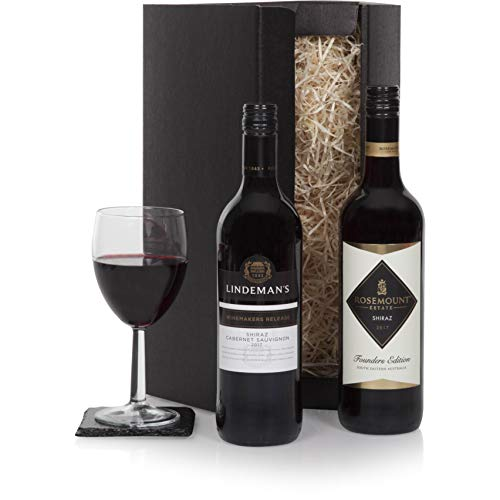 Red Wine Duo Selection - Wine Hampers & Wine Gifts - Australian Wine Gift For Him Or For Her - Perfect Birthday or Thank You Wine Gifts