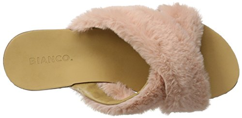 BIANCO - Plüsch Pantolette, Pantofole Donna Rosa Rosa (Rose)