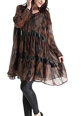 ELLAZHU - Vestido de Gasa