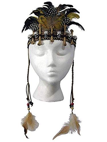 Voodoo Hexe Doktor Feder Kopfschmuck Stirnband