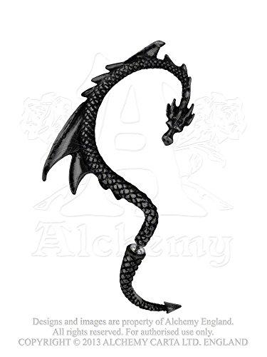 GothicJewels - Orecchino singolo Alchemy: La lusinga del Dragone Nero
