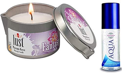 Aroma Massagekerze Duftkerzen KOKOSKUSS Cocos mit süßem Kokosduft für Paarmassagen Massage Candle Erotik Kerzen Kokos (50 ml)