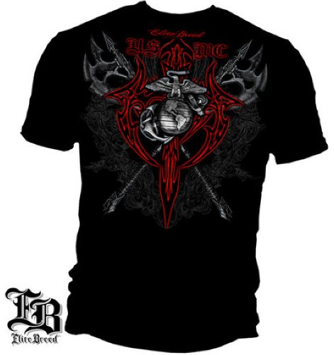 infanteria-de-marina-tribal-axis-elite-breed-militar-camiseta-large-negro