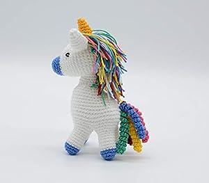 Unicornio del arcoiris, regalo azul