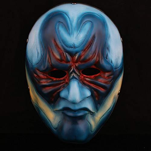 BERID Halloween-Maske, Erntetag 2 Männliche Räuber Maske, Kreatives Harz Vizard Maske, Party, Maskerade Und Cosplay-Maske