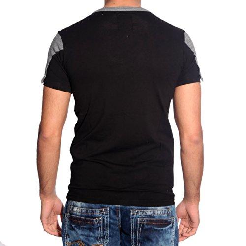 R-Neal Herren T-Shirt Schwarz 6661 Schwarz