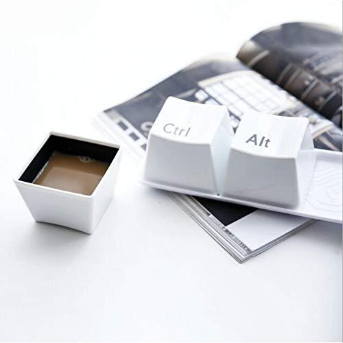 Erjialiu 3 Teile/Satz Kreative Becher Tastatur Taste Becher Liebhaber Familie Tasse Desktop Dekoration Milch Kaffeetasse,Black