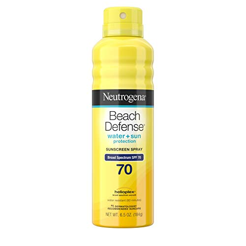 Neutrogena Beach Defense Spray Sunscreen Broad Spectrum SPF 70, 6.5 Oz by Johnson & Johnson (Sunscreen Spray Neutrogena)