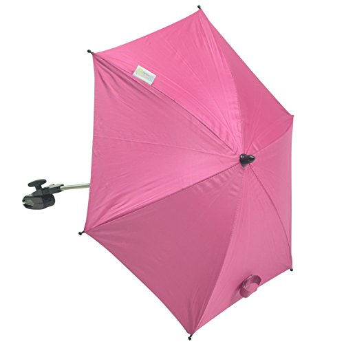 For-Your-Little-Sonnenschirm kompatibel mit Babylo Laufstall Marco Sky, Hot Pink