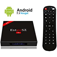 2018 Newest UKSoku EstgoSZ Android 7.1 TV Box with LED Display, 4GB RAM 64GB ROM RK3328 Quad-Core 64bits 4K Ultra HD Set Top Box with 2.4G/5G Dual-Band WIFI Ethernet H.265 3D Bluetooth 4.0