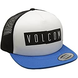 Volcom Stack Chees Tiene Trucker Cap Béisbol Gorro Gorra Azul Gorra, Deep Water, One Size